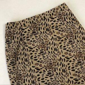 Terry Lewis Leopard Print Skirt Sz 6